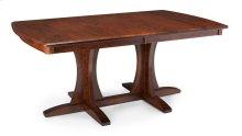 Grace Double Pedestal Table, Solid Top