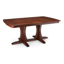 Grace Double Pedestal Table, Solid Top