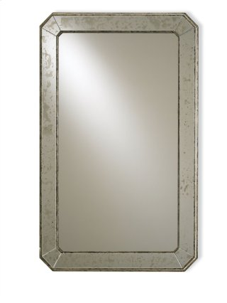 Antiqued Wall Mirror - 41h x 26w