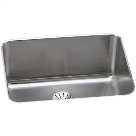 """Elkay Lustertone Classic Stainless Steel 25-1/2"""" x 19-1/4"""" x 10"""", Single Bowl Undermount Sink with Perfect Drain"""
