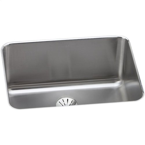 "Elkay Lustertone Classic Stainless Steel 25-1/2"" x 19-1/4"" x 10"", Single Bowl Undermount Sink with Perfect Drain"
