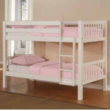 White Twin/Twin Bunk Bed (ships in 2 cartons)