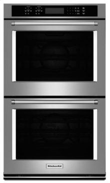 """27"""" Double Wall Oven with Even-Heat™ True Convection - Stainless Steel"""