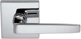 Interior Modern Lever Latchset with Square Rose in (US26 Polished Chrome Plated)