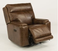 Sienna Leather Power Gliding Recliner with Power Headrest