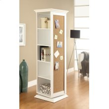 Casual White Accent Cabinet