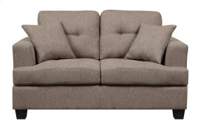 Emerald Home Clearview Loveseat W/2 Pillows Brown U3610a-01-15