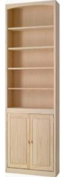 Pine 24 Inch Bookcase with Doors Product Image