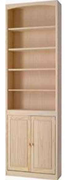 Pine 24 Inch Bookcase with Doors