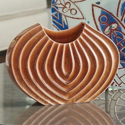Ripple Vase-Orange-XL