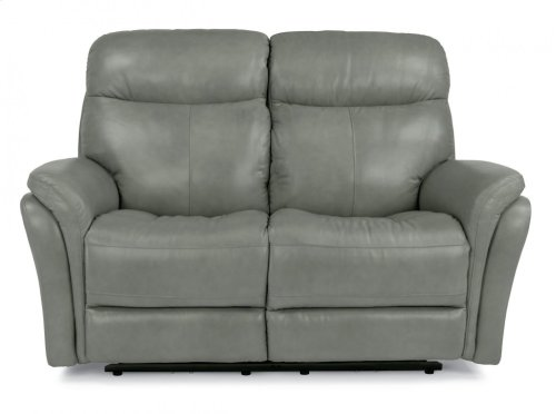 Zoey Leather Power Reclining Loveseat with Power Headrests