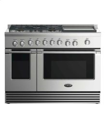 "48"" Gas Range: 5 Burners With Griddle"