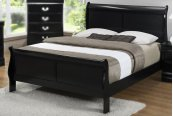 Jet LP Twin Panel Sleigh Bed