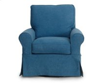 Sunset Trading Horizon Slipcovered Swivel/Rocker Chair - Color: 410046 - Sunset Trading