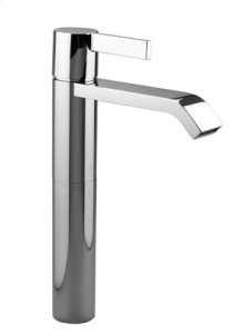 Single-lever lavatory mixer with extended shank without drain - chrome