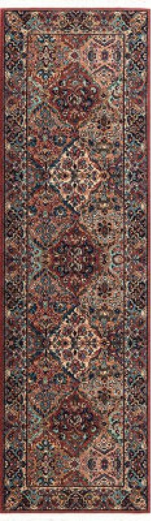 Multicolor Panel Kirman Multi Runner 2ft 6in X 8ft 6in