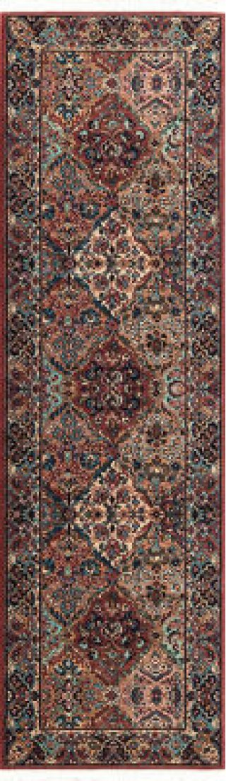 Multicolor Panel Kirman Multi Runner 2ft 6in X 8ft 6in