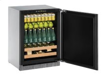"""2000 Series 24"""" Beverage Center With Integrated Solid Finish and Field Reversible Door Swing"""