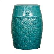 Spear Ceramic Garden Stool, Turquoise Product Image