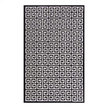 Freydis Greek Key 8x10 Area Rug in Black and White