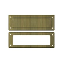 """Mail Slot 8 7/8"""" with Interior Frame - Antique Brass"""