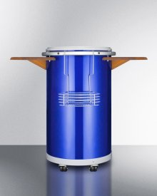 """Round Beverage Refrigerator With """"blue"""" Ice Bank for 8 Hours of Electricity-free Cooling"""