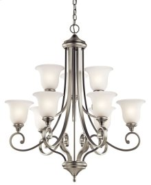 Monroe 9 Light Chandelier Brushed Nickel