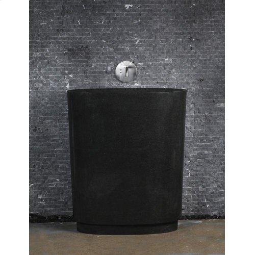 Infinity Pedestal Sink, Black Granite