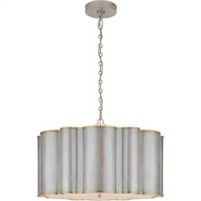 Visual Comfort AH5215BSL/G-FA Alexa Hampton Markos 4 Light 26 inch Burnished Silver Leaf with Gild Pendant Ceiling Light, Large