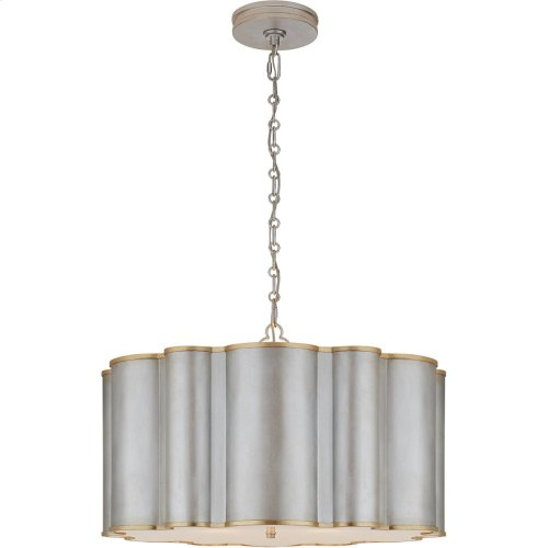 Visual Comfort AH5215BSL/G-FA Alexa Hampton Markos 4 Light 26 inch Burnished Silver Leaf with Gild Pendant Ceiling Light in Burnished Silver Leaf and Gild, Large