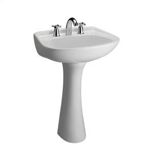 Hartford Pedestal Lavatory - White - White Product Image