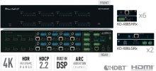 8x8 4K POH/HDBT/HDMI Matrix Switcher, Integrated Audio, DSP/De-embedding of Analog L/R Balanced/Unbalanced, Digital Coaxial Audio, ARC. (Includes 8 Rx Extenders: 6 Standard Range & 2 Long Range)
