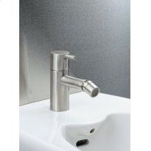 "One-handle bidet mixer with ceramic disc technology fixed spout with adjustable nozzle, pop-up waste 1 1/4"" - Grey"
