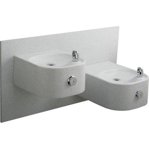 Elkay Soft Sides Bi-Level Composite Fountain Non-Filtered, Non-Refrigerated White Granite Composite