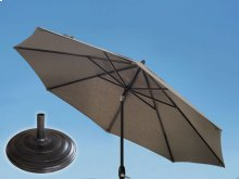 9.0' Umbrella with 9' & 11' Umbrella Extension Pole and XL8 Umbrella Base