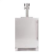 24 Inch Dual Tap Solid Stainless Door Left Hinge Undercounter Beverage Dispenser