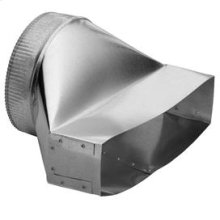 "3-1/4"" x 14"" to 8"" Round Vertical Discharge Transition for Range Hoods and Bath Ventilation Fans"