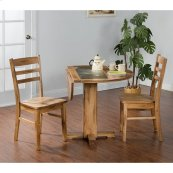 Sedona Drop Leaf Table With Accent Slate Top