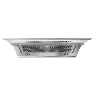 """KitchenAid36"""" Slide-Out Hood - Heritage Stainless Steel"""