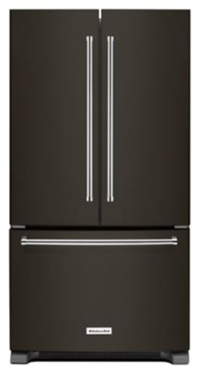 20 cu. ft. 36-Inch Width Counter-Depth French Door Refrigerator with Interior Dispense - Black Stainless Product Image