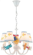 5-lite Ceiling Lamp - Airplane/fabric Shade, E12 B 40wx5 Product Image