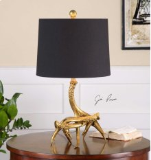 Golden Antlers Table Lamp