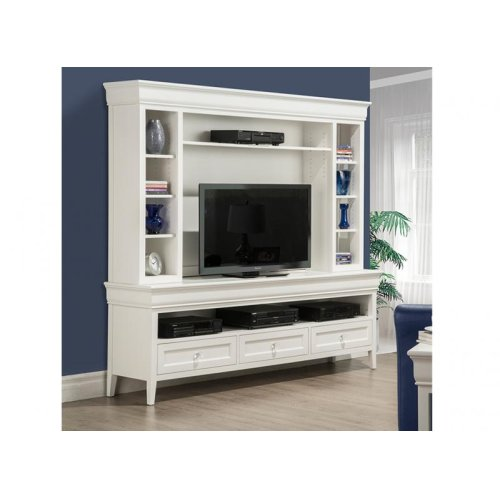 "Monticello 84"" HDTV Cabinet with Hutch"