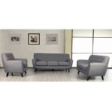 Edie Stone Gray Sofa, Loveseat & Chair, U3023