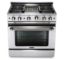 """36"""" six burner gas self-clean range + convection oven - LP"""