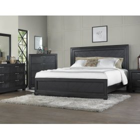 """Montana Side Rails for Queen or King Bed, Brown, 81""""x2""""x8"""""""