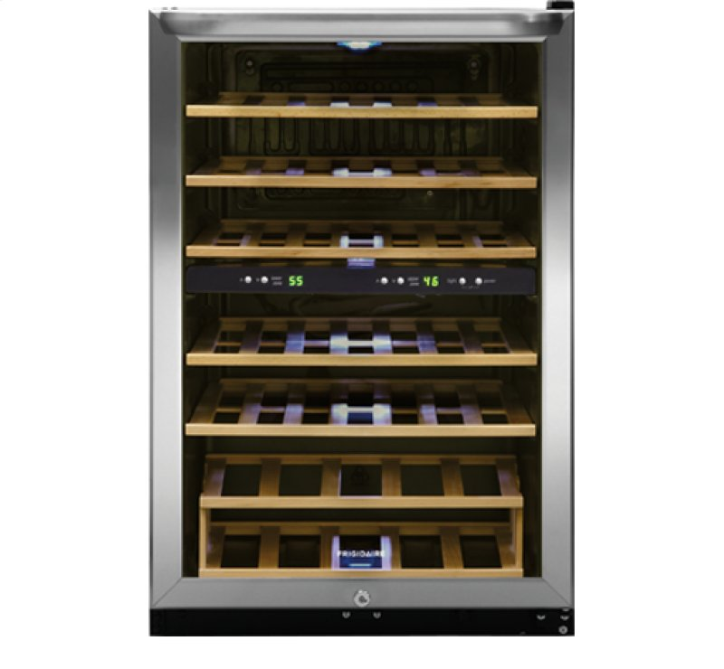 ffwc3822qs in by frigidaire in concord nh frigidaire 38 bottle two zone wine cooler. Black Bedroom Furniture Sets. Home Design Ideas