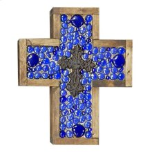 Small Blue Jeweled Cross