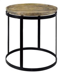 Bengal Manor Mango Wood and Metal Round End Table