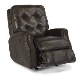 Devon Leather Power Rocking Recliner without Nailhead Trim